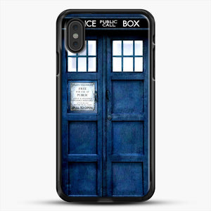 Doctor Who Tardis iPhone XS Max Case, Black Rubber Case | JoeYellow.com