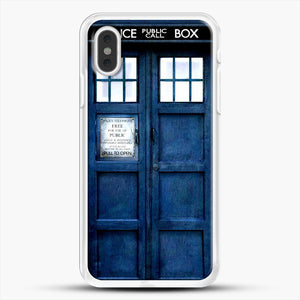 Doctor Who Tardis iPhone XS Max Case, White Rubber Case | JoeYellow.com