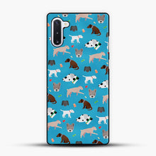 Load image into Gallery viewer, Doggy Doodle Blue Background Samsung Galaxy Note 10 Case