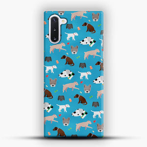 Doggy Doodle Blue Background Samsung Galaxy Note 10 Case