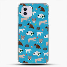 Load image into Gallery viewer, Doggy Doodle Blue Background iPhone 11 Case