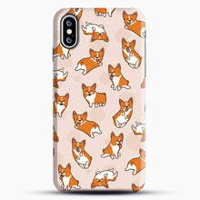 Load image into Gallery viewer, Doggy Doodle Corgi And Buble iPhone XS Case