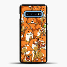 Load image into Gallery viewer, Doggy Doodle Corgi Art Samsung Galaxy S10 Case