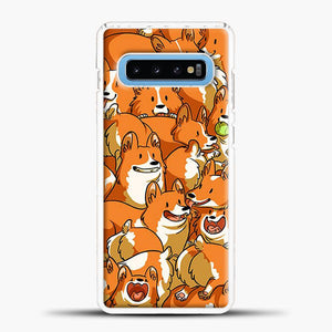 Doggy Doodle Corgi Art Samsung Galaxy S10 Case