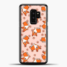 Load image into Gallery viewer, Doggy Doodle Pink Background Samsung Galaxy S9 Plus Case