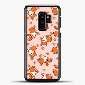 Doggy Doodle Pink Background Samsung Galaxy S9 Plus Case
