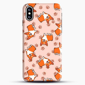 Doggy Doodle Pink Background iPhone XS Max Case
