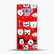 Load image into Gallery viewer, Doggy Doodle Red Background Samsung Galaxy Note 9 Case