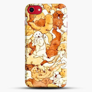 Doggy Doodle White And Chocolate iPhone 8 Case