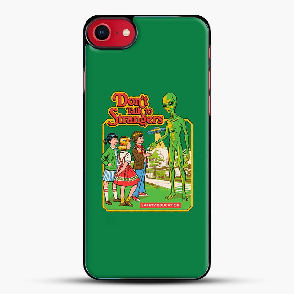 Dont Talk To Strangers Green Background iPhone 7 Case