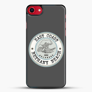 East Coast Bethany Beach Delaware Blue And Grey iPhone 7 Case, Black Plastic Case | JoeYellow.com