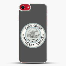 Load image into Gallery viewer, East Coast Bethany Beach Delaware Blue And Grey iPhone 7 Case, White Plastic Case | JoeYellow.com