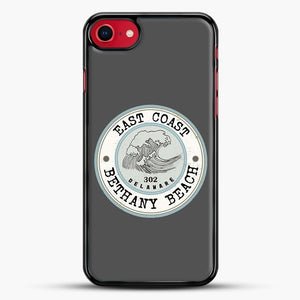 East Coast Bethany Beach Delaware Blue And Grey iPhone 7 Case, Black Rubber Case | JoeYellow.com