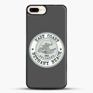 East Coast Bethany Beach Delaware Blue And Grey iPhone 8 Plus Case, Black Plastic Case | JoeYellow.com