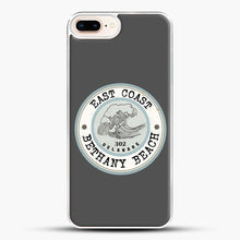 Load image into Gallery viewer, East Coast Bethany Beach Delaware Blue And Grey iPhone 8 Plus Case, White Plastic Case | JoeYellow.com