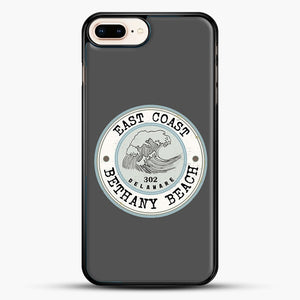 East Coast Bethany Beach Delaware Blue And Grey iPhone 8 Plus Case, Black Rubber Case | JoeYellow.com