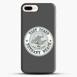 East Coast Bethany Beach Delaware Blue And Grey iPhone 8 Plus Case, Black Snap 3D Case | JoeYellow.com