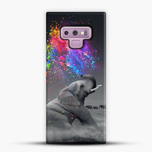Elephant Color Explosion Bursts Of Color Samsung Galaxy Note 9 Case, Snap 3D Case | JoeYellow.com