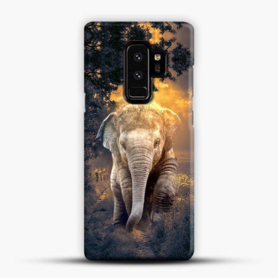 Elephant Color Explosion Cloudy Samsung Galaxy S9 Plus Case, Snap 3D Case | JoeYellow.com