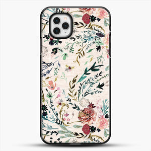 Fable Floral iPhone 11 Pro Case, Black Plastic Case | JoeYellow.com