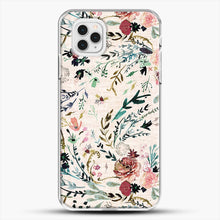 Load image into Gallery viewer, Fable Floral iPhone 11 Pro Case, White Plastic Case | JoeYellow.com