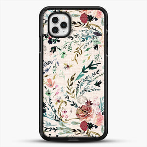 Fable Floral iPhone 11 Pro Case, Black Rubber Case | JoeYellow.com