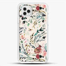 Load image into Gallery viewer, Fable Floral iPhone 11 Pro Case, White Rubber Case | JoeYellow.com