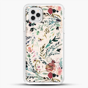 Fable Floral iPhone 11 Pro Case, White Rubber Case | JoeYellow.com