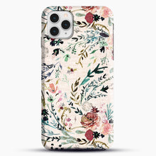 Load image into Gallery viewer, Fable Floral iPhone 11 Pro Case, Black Snap 3D Case | JoeYellow.com