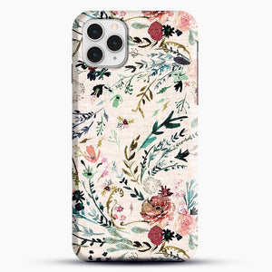 Fable Floral iPhone 11 Pro Case, Black Snap 3D Case | JoeYellow.com