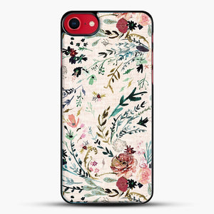 Fable Floral iPhone 8 Case, Black Plastic Case | JoeYellow.com