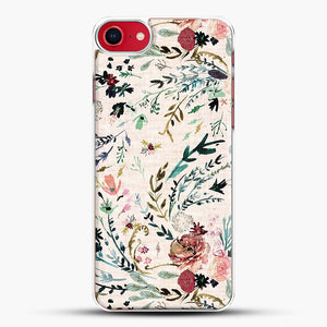 Fable Floral iPhone 8 Case, White Plastic Case | JoeYellow.com