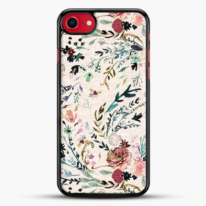Fable Floral iPhone 8 Case, Black Rubber Case | JoeYellow.com