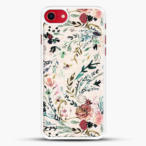 Fable Floral iPhone 8 Case, White Rubber Case | JoeYellow.com