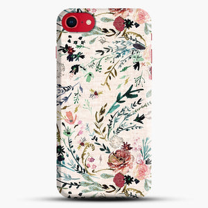 Fable Floral iPhone 8 Case, Black Snap 3D Case | JoeYellow.com
