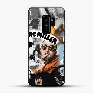 Faces Mac Miller Collage Wallpaper Samsung Galaxy S9 Plus Case, Black Plastic Case | JoeYellow.com