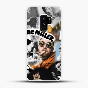 Faces Mac Miller Collage Wallpaper Samsung Galaxy S9 Plus Case, White Plastic Case | JoeYellow.com
