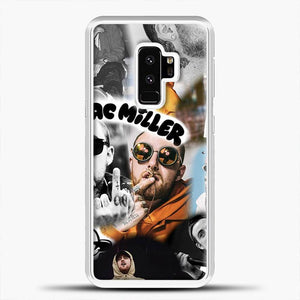 Faces Mac Miller Collage Wallpaper Samsung Galaxy S9 Plus Case, White Rubber Case | JoeYellow.com