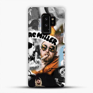 Faces Mac Miller Collage Wallpaper Samsung Galaxy S9 Plus Case, Snap 3D Case | JoeYellow.com