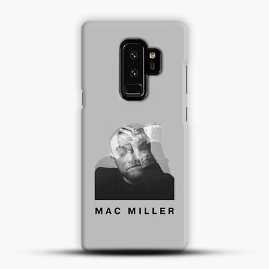 Faces Mac Miller Shadow Grey Background Samsung Galaxy S9 Plus Case, Snap 3D Case | JoeYellow.com