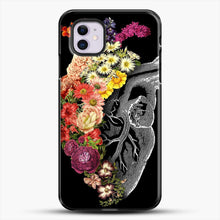 Load image into Gallery viewer, Flower Heart Spring iPhone 11 Case, Black Plastic Case | JoeYellow.com