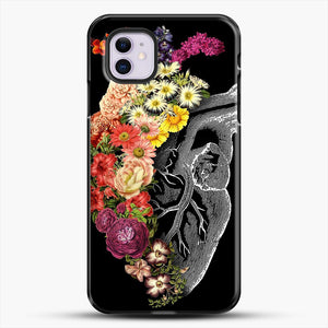 Flower Heart Spring iPhone 11 Case, Black Plastic Case | JoeYellow.com