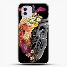 Load image into Gallery viewer, Flower Heart Spring iPhone 11 Case, White Plastic Case | JoeYellow.com