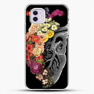 Flower Heart Spring iPhone 11 Case, White Plastic Case | JoeYellow.com