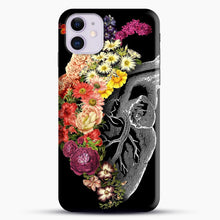 Load image into Gallery viewer, Flower Heart Spring iPhone 11 Case, Black Snap 3D Case | JoeYellow.com