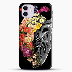 Flower Heart Spring iPhone 11 Case, Black Snap 3D Case | JoeYellow.com