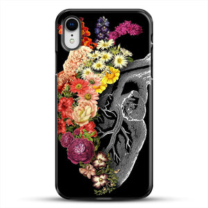 Flower Heart Spring iPhone XR Case, Black Plastic Case | JoeYellow.com
