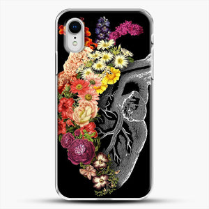 Flower Heart Spring iPhone XR Case, White Plastic Case | JoeYellow.com