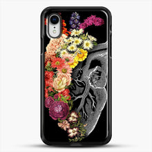 Load image into Gallery viewer, Flower Heart Spring iPhone XR Case, Black Rubber Case | JoeYellow.com