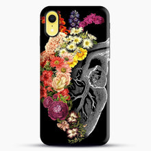 Load image into Gallery viewer, Flower Heart Spring iPhone XR Case, Black Snap 3D Case | JoeYellow.com